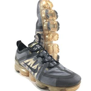 Nike Air Vapormax 2019 Metallic Gold Youth Shoes